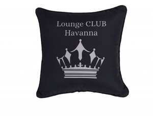 """PRIMASTER Kissen Lounge Club Havanna """"45 x 45 cm, schwarz"""""""