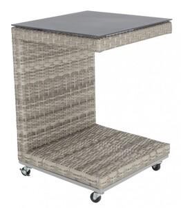 """PRIMASTER Cafe Tisch """"45 x 45 x 62 cm, quadratisch, antique shell, passend zu Imperia de Luxe"""""""