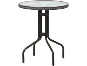 """TrendLine Tisch Venezia """"Ø 60 cm, Höhe: 70 cm, rund, schwarz/glas"""""""