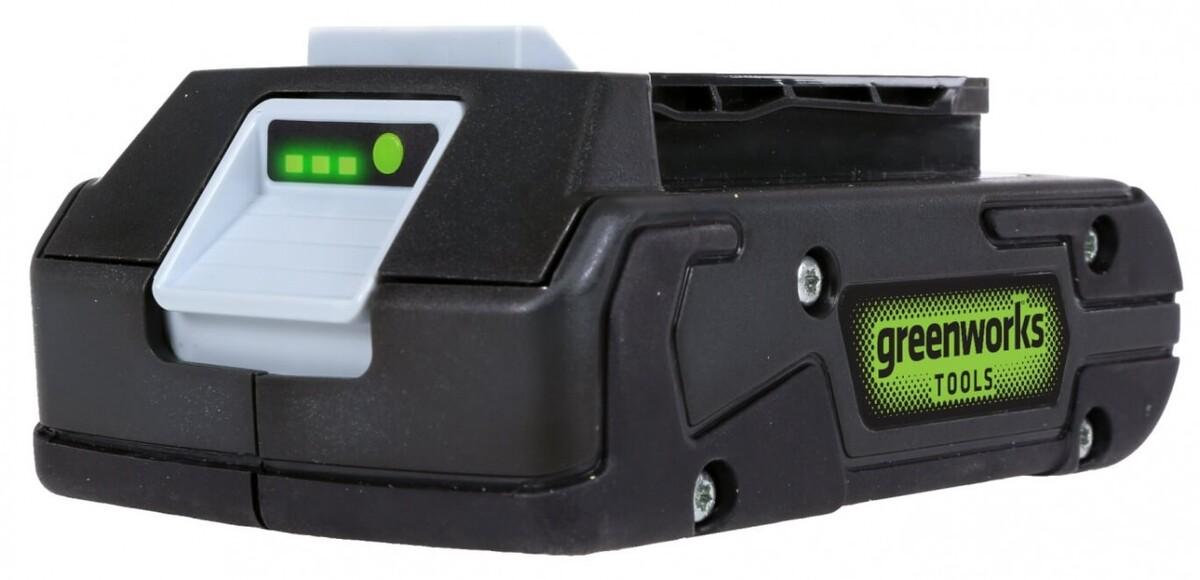 """Bild 1 von Greenworks Lithium-Ionen Akku 24 V """"2 Ah, LED-Ladestandsanzeige, Gartengeräte und Werkzeuge"""""""