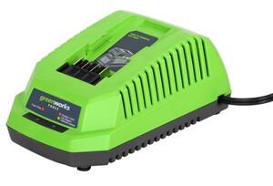 "Greenworks Akku-Ladegerät 40 V ""für 40 V Akkus, 2, 4 und 6 Ah,"""
