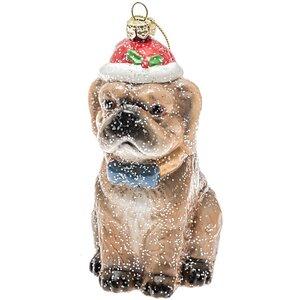 Baumschmuck Bulldogge mit Mütze 12cm