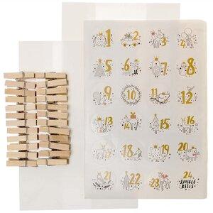 Tüten-Adventskalender-Set 21x15cm