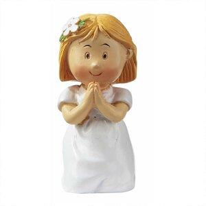 HobbyFun Figur Mädchen zur Kommunion/Konfirmation 4,5cm