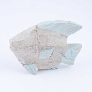 Dekofisch 13x10cm Holz