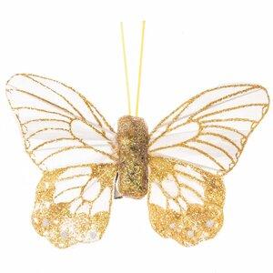 Schmetterling mit Clip gelb 10cm 2 Stück