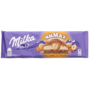 Milka Mmmax Schokolade Karamell & Haselnuss