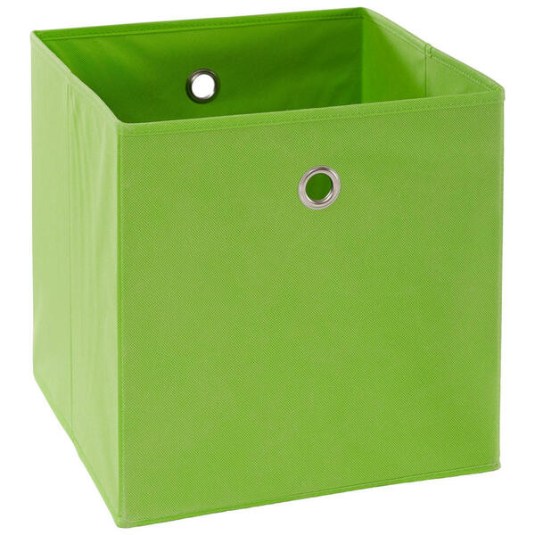FALTBOX Metall, Textil, Karton Grün, Silberfarben