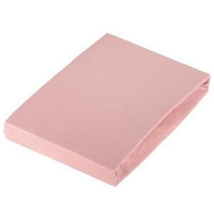 SPANNBETTTUCH Jersey Rosa bügelfrei, für Wasserbetten geeignet