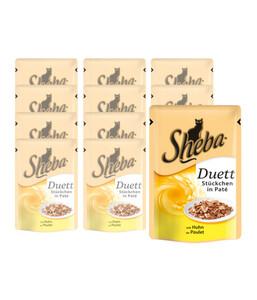 Sheba® Duett Huhn, Nassfutter, 12 x 85 g