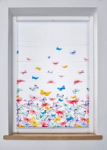 Plissee mit Schmetterlingen