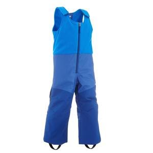 Skihose Latzhose Piste 500 Kinder blau