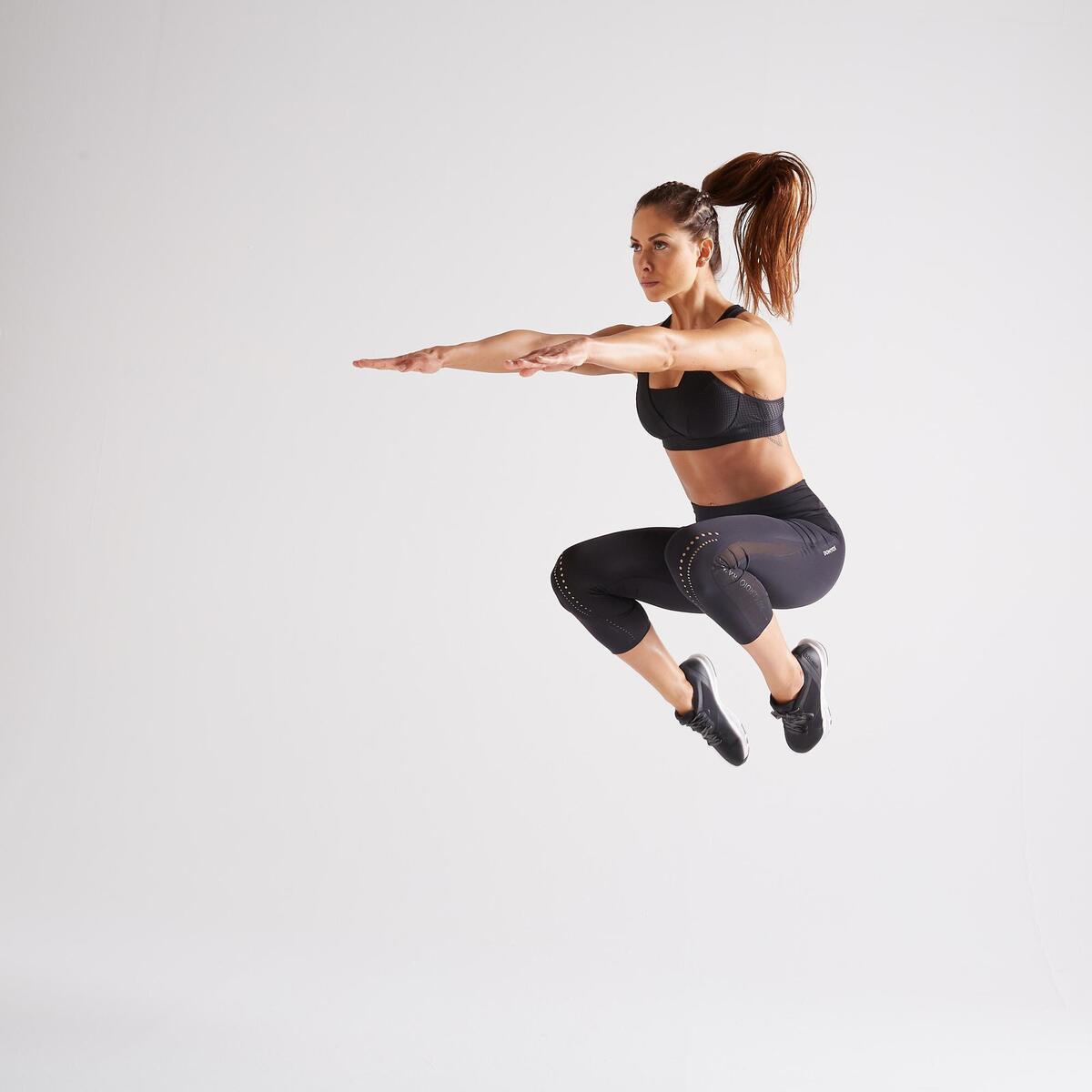 Bild 2 von 7/8-Leggings FLE 900 Fitness Cardio Damen schwarz