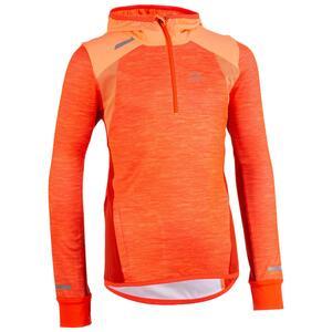 Sportshirt Langarm Leichtathletik Kiprun warm Kinder koralle/rot