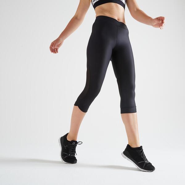 7/8-Leggings FLE 500R Fitness Cardio Damen schwarz