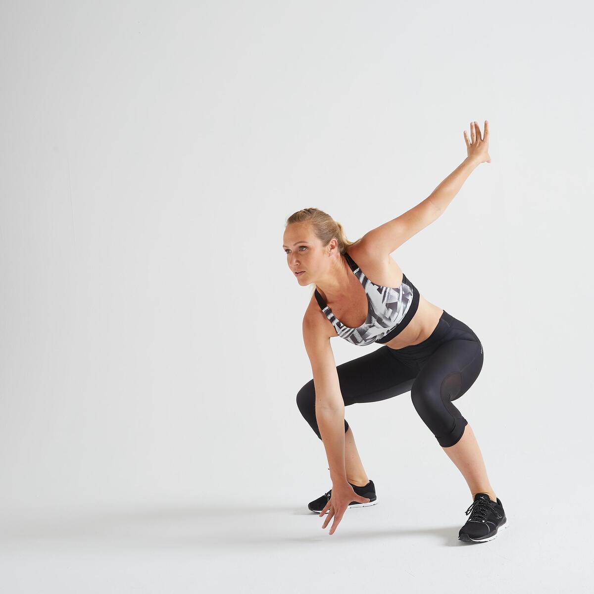 Bild 2 von 7/8-Leggings FLE 500R Fitness Cardio Damen schwarz