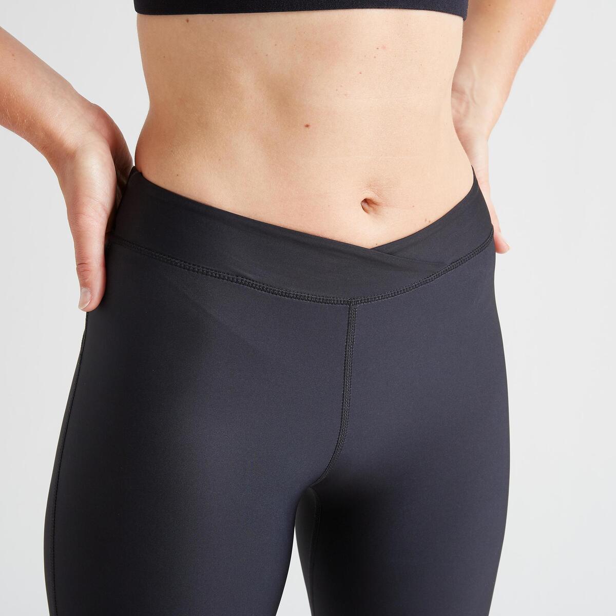 Bild 3 von 7/8-Leggings FLE 500R Fitness Cardio Damen schwarz