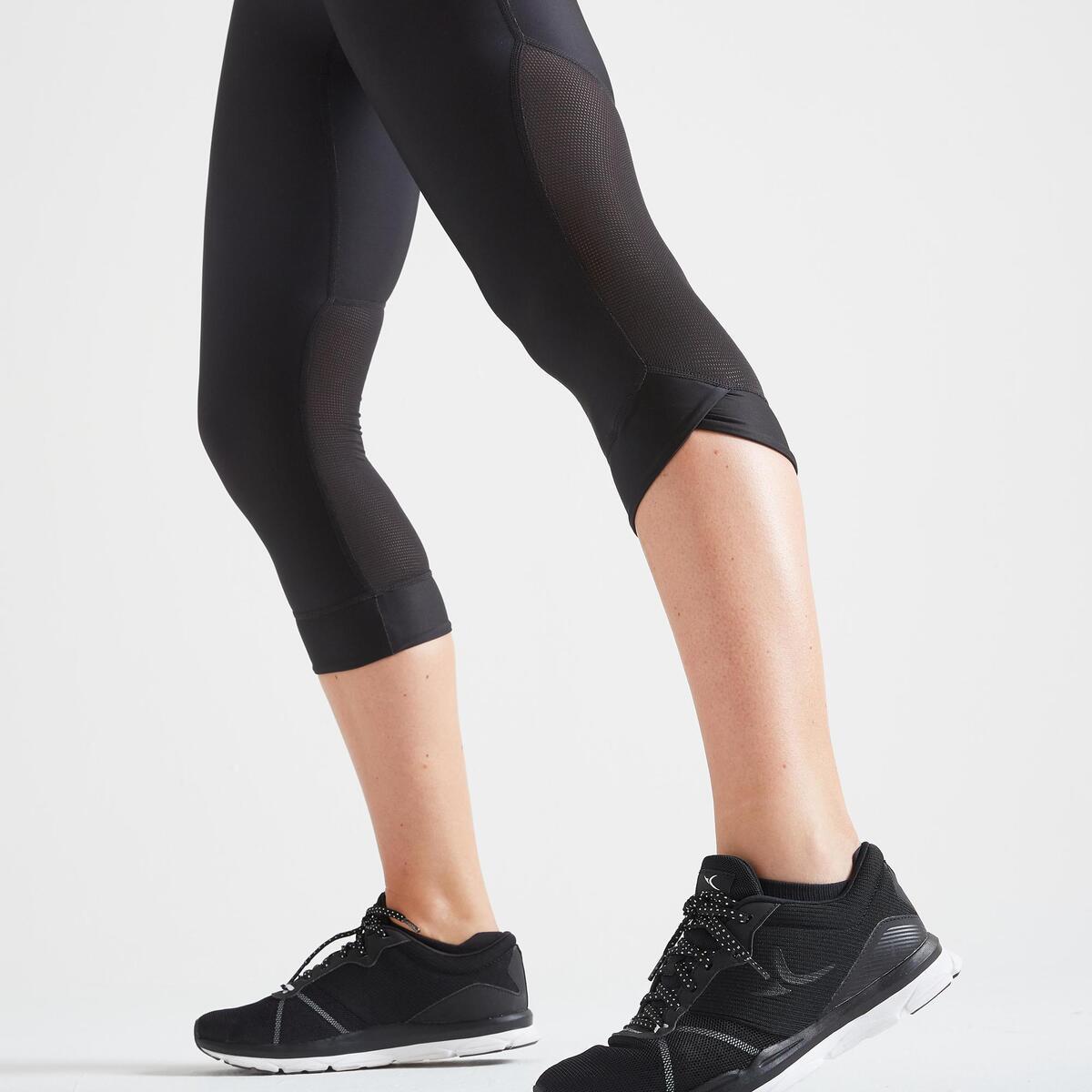 Bild 5 von 7/8-Leggings FLE 500R Fitness Cardio Damen schwarz