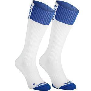 Volleyballsocken V500 High Damen weiß/blau