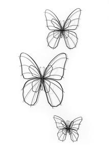 Wanddeko Schmetterlinge (3-tlg.Set)