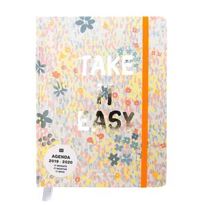 Paper Poetry Agenda 2019-2020 Crafted Nature blau 14x18cm