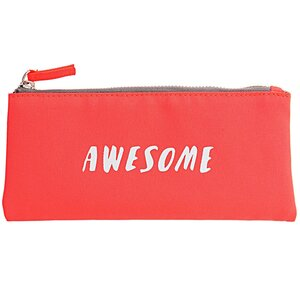Paper Poetry Textil Etui Awesome neonorange 10x21,5cm