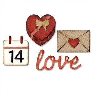 Stanzschablone Valentine 3,8x3,5cm - 1x0,6cm