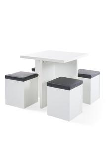 Tisch mit Hocker (2tlg.Möbelset)