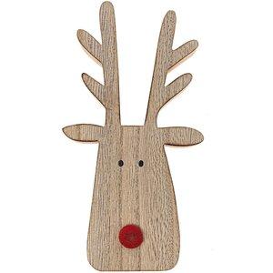 Rentier Rudolph stehend natur-rot 17,5x9,5cm