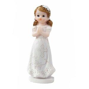 HobbyFun Figur Mädchen zur Kommunion/Konfirmation 8cm