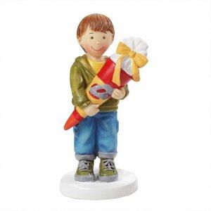HobbyFun Dekofigur Junge mit Schultüte 8,5cm