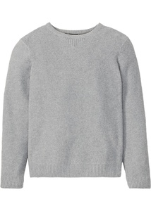 Pullover Strukturstrick mit recycelter Baumwolle Regular Fit