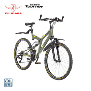 Mountainbike Fully Blue 1.0 26er oder 28er - Shimano Drehgriffschalter - Alu-V-Bremsen - Rahmenhöhe: 50 cm (26er), 54 cm (28er) - Preis für vormontierte Räder