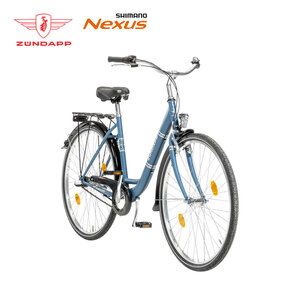 Citybike Red 1.0 - Shimano Drehgriffschalter - Alu-V-Bremse vorne, Rücktrittbremse - Rahmenhöhe:  35 cm (24er),  46 cm (26er),  50 cm (28er) - Preis für vormontierte Räder