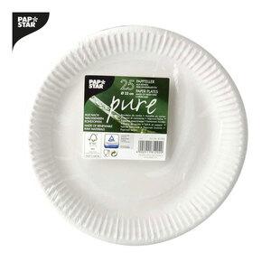 """Serie """"pure"""" Einwegartikel aus nachwachsenden Rohstoffen Pappteller - 50er-Pack"""