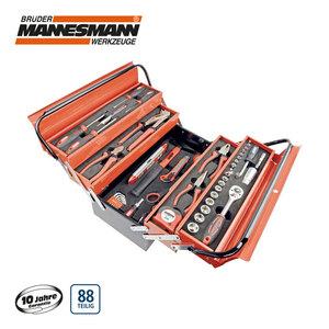 Metall-Werkzeugkasten bestückt, 88-teilig