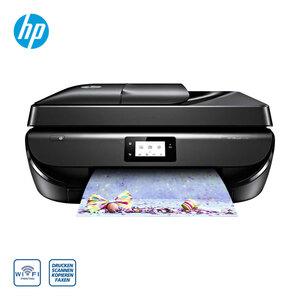 OfficeJet 5230 • einfaches Drucken vom Smartphone oder Tablet mit der HP Smart-App • autom. beidseitiger Druck (Duplex) • randloser A4-Druck • 35 Blatt autom. Dokumentenzufuhr (ADF)