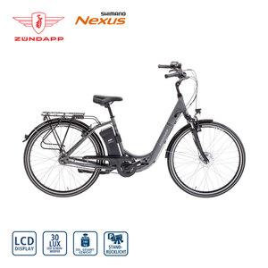 Alu-Elektro-Fahrrad Green 3.0 26er oder 28er - Fahrunterstützung bis ca. 25 km/h - Samsung-Li-Ionen-Akku 26 V/10,4 Ah, 374 Wh - Reichweite: bis zu 100 km (je nach Fahrweise) - wartungsfreier Blaupun