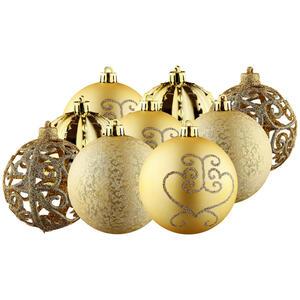 CHRISTBAUMKUGEL-SET 9-teilig Goldfarben
