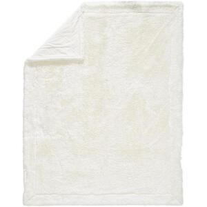 FELLDECKE 150/200 cm Weiß