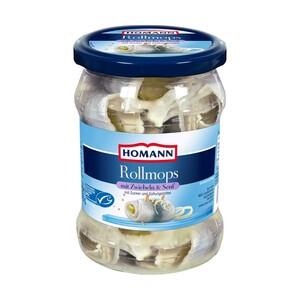 Homann Rollmops oder Bismarckhering und weitere Sorten, jedes 500-g-Glas/250-g-Abtropfgewicht