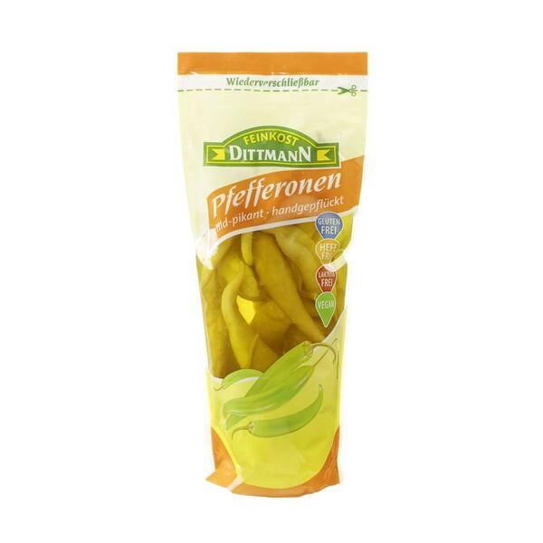 Dittmann Pfefferonen mild-pikant, jeder 500-g-Beutel /200 g Abtropfgewicht