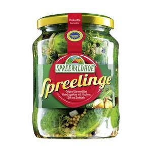 Spreelinge Gewürzgurken oder saure Gurken und weitere Sorten, jedes 720-ml-Glas/360 g Abtropfgewicht