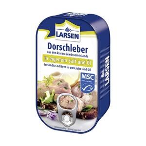 Larsen MSC Dorschleber oder Muscheln jede 121-g / 110-g-Dose
