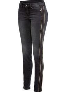 Skinny Jeans mit seitlichem Streifen