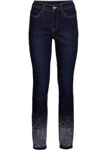 Stretch-Jeans mit Schmucksteinen