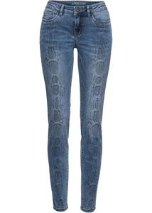 Skinny Jeans mit Schlangen-Print