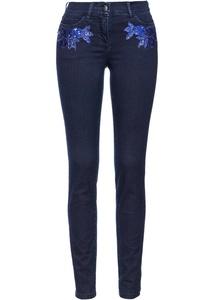 Jeans mit Blumenapplikation