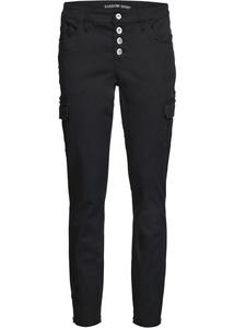 Skinny Jeans mit offener Knopfleiste