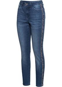 Skinny Jeans mit seitlichem Animal-Streifen